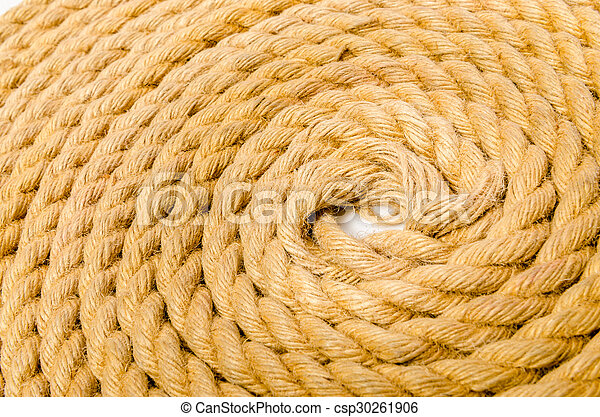 Close up of rope arranged as background - csp30261906
