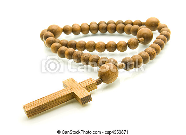 Close-up of Rosary beads - csp4353871