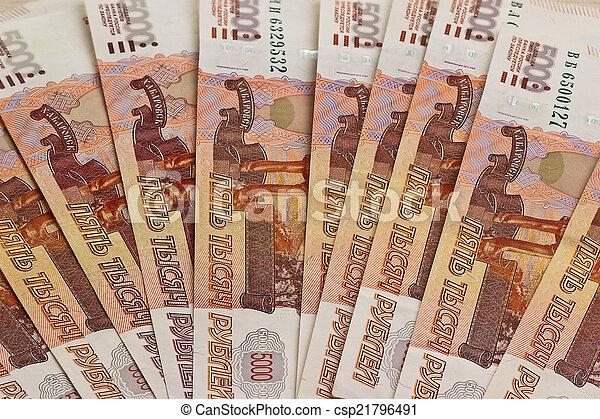 Close-up of russian banknotes - csp21796491