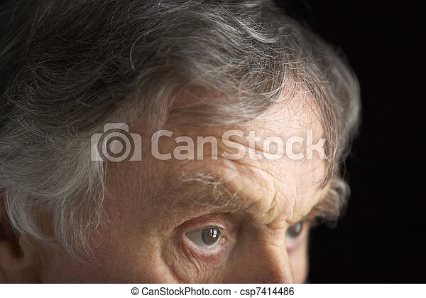 Close-up of senior man - csp7414486
