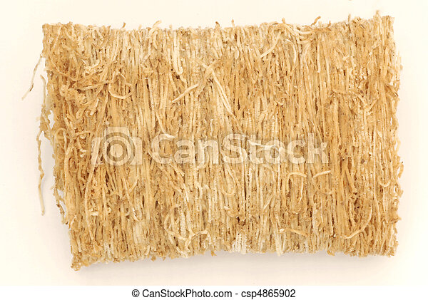 close up of shredded wheat buscuit cereal - csp4865902