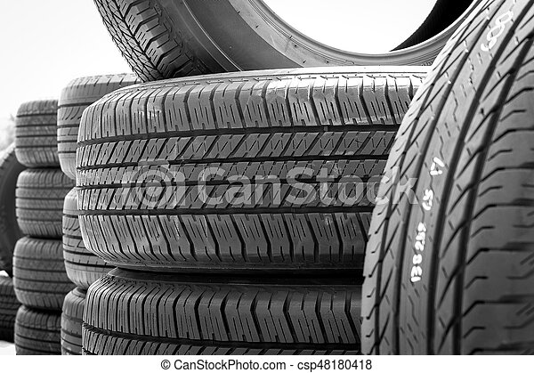 Used Car Tires >> Close Up Of Stack Used Car Tires