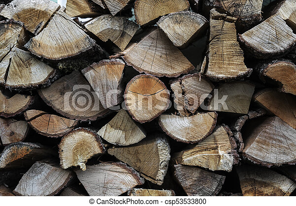Close up of stacked firewood - csp53533800