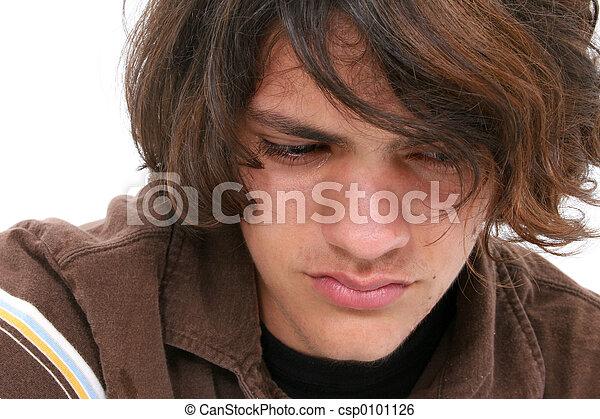 Close Up of Teen Boy - csp0101126