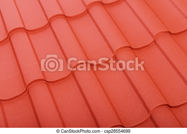 Close up of terracotta roof tiles