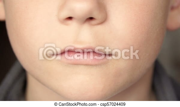 Close Up Of The Boy S Lips Full Hd Video Lips Of The Child Front View Close Up Canstock