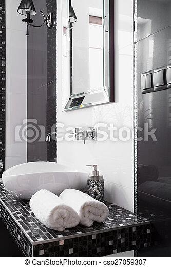 Close-up of towels - csp27059307