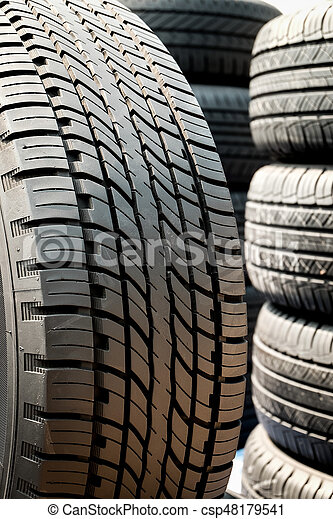 Used Car Tires >> Close Up Of Tread Used Car Tires
