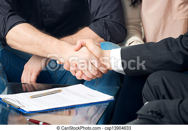 Close-up of two shaking hands - csp13904633