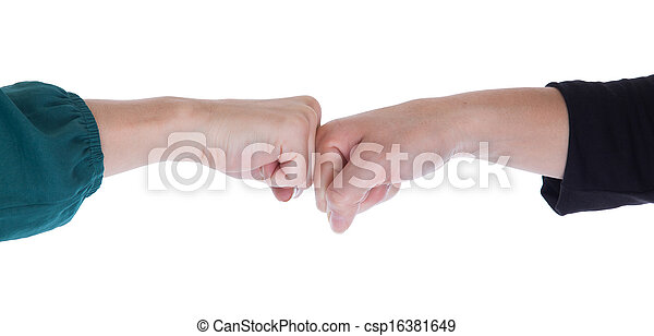 Close up of two women shaking hands - csp16381649