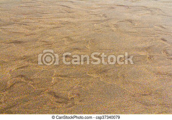 Close up of wet sand on the beach - csp37340079