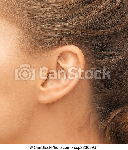 close up of woman's ear - csp22363967