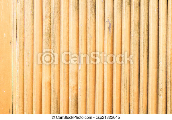 Close up of wooden fence panels - csp21322645