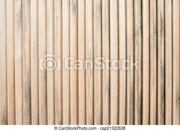 Close up of wooden fence panels - csp21322638