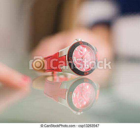 Close-up Of Wristwatch - csp13263547