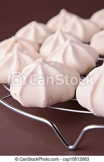 close up on meringue - csp10812663