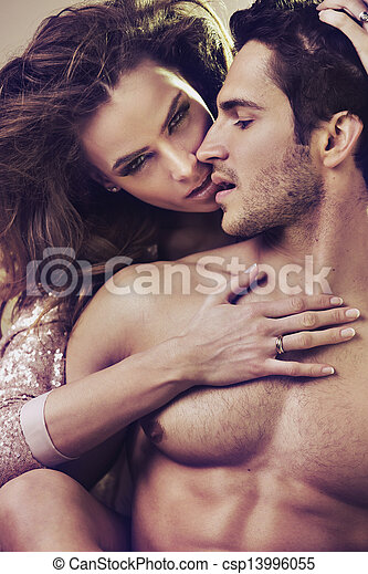 Close up photo of attractive young couple - csp13996055