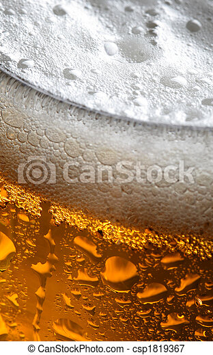 Close up photo of beer - csp1819367