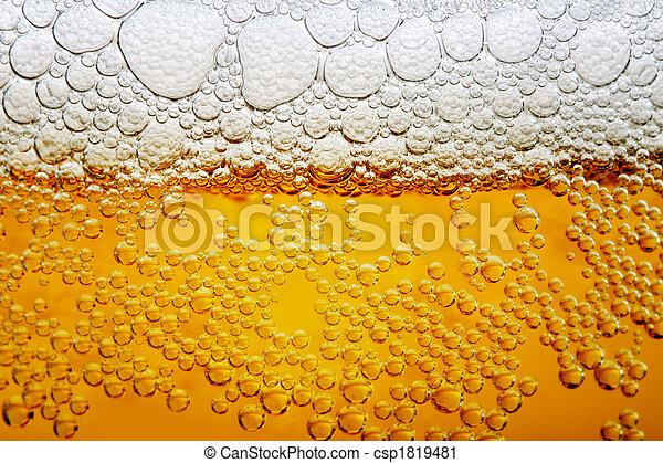 Close up photo of beer - csp1819481