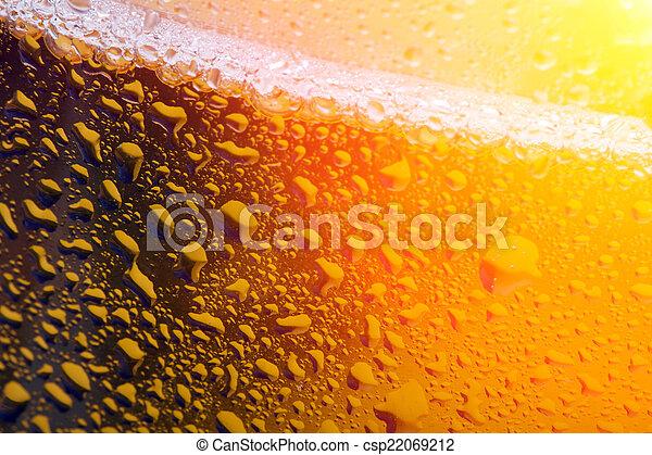 Close up photo of beer - csp22069212