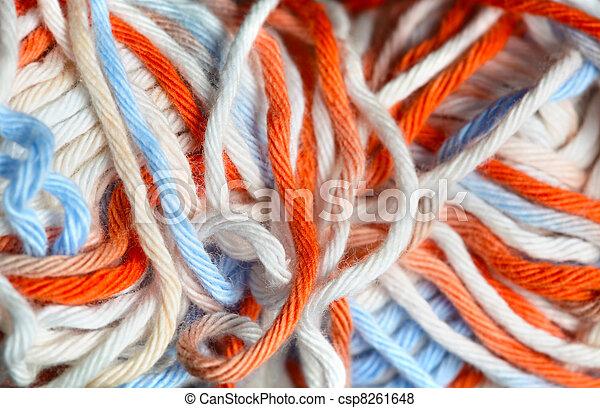 Close up photo of yarn - csp8261648