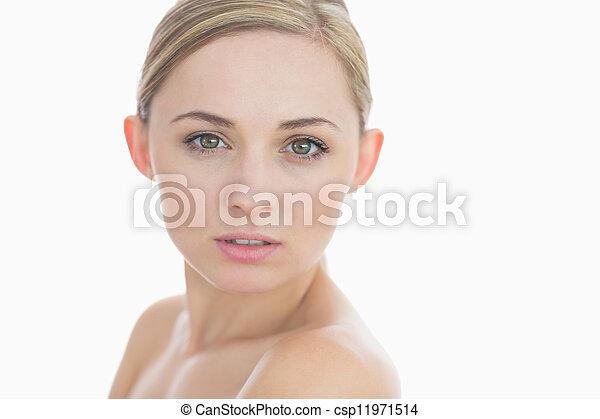 Close-up portrait of a fresh woman's face - csp11971514