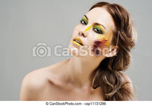 Close-up portrait of beautiful cauc - csp11131286