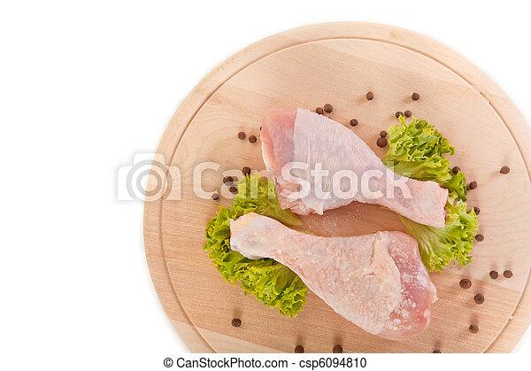 Close-up shot of fresh raw chicken legs  - csp6094810