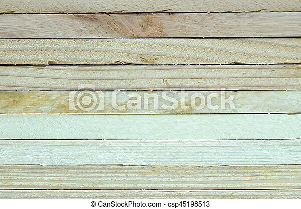 Close up stack of wooden plank. - csp45198513