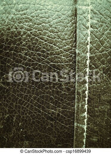 Close Up Texture Of Vintage Leather Sofa
