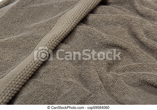 Close up view of brown towel texture - csp59584060
