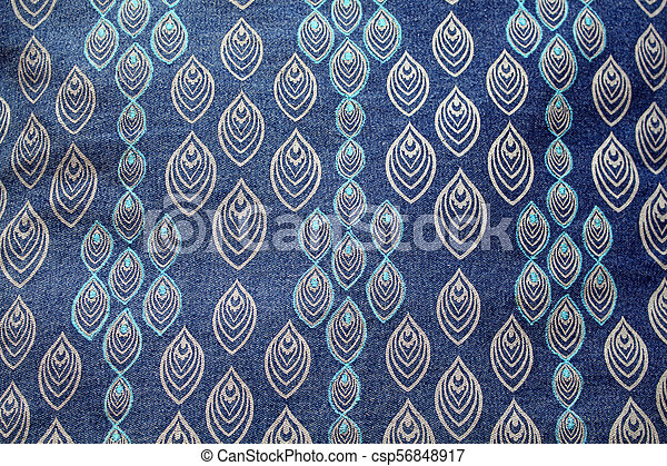 Close up view of fabric background. - csp56848917