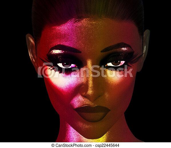 Close Up Woman S Face