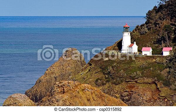 Close View of Heceta Head Lighthouse on Oregon Coast - csp0315892