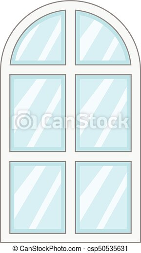 Close window frame icon, cartoon style. Close window frame icon ...