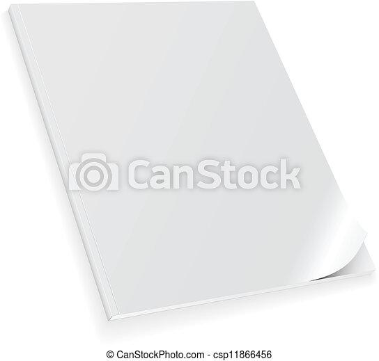 Closed blank magazine - csp11866456
