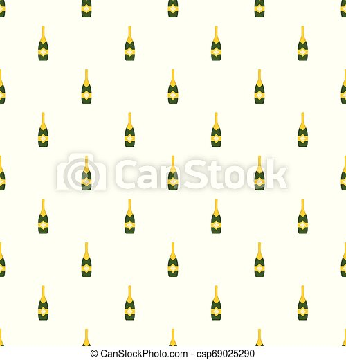 Closed champagne pattern seamless vector - csp69025290