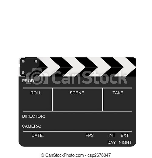 closed clapboard action closed clapboard isolated on a picture rh canstockphoto com movie clapboard clipart free clapboard clipart