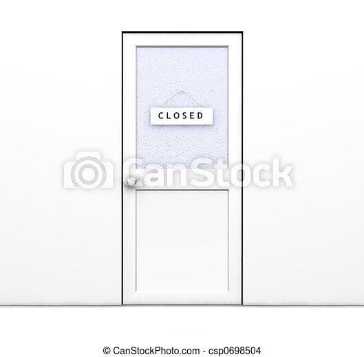 closed door drawing.  Door Closed Door  Csp0698504 Intended Door Drawing R