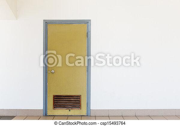 Closed door - csp15493764