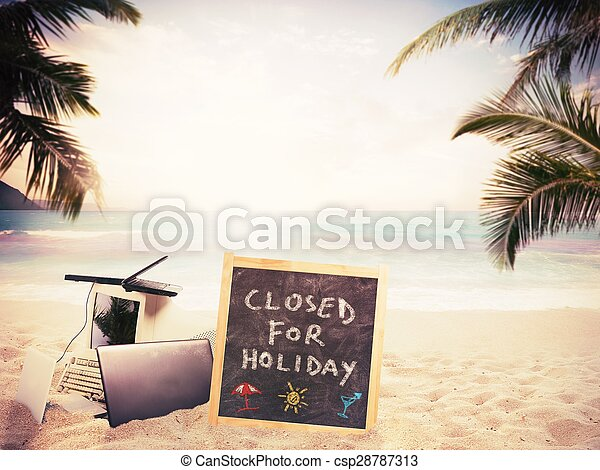 Closed for holiday - csp28787313