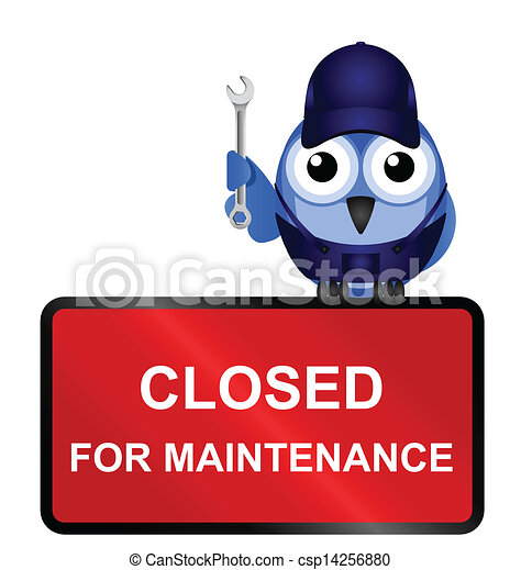 closed for maintenance sign  - csp14256880