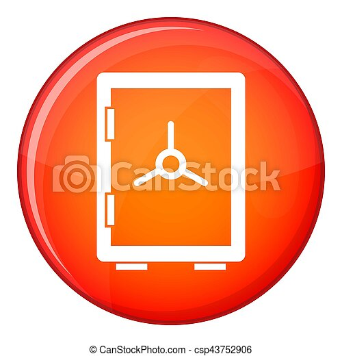 Closed safe icon, flat style - csp43752906