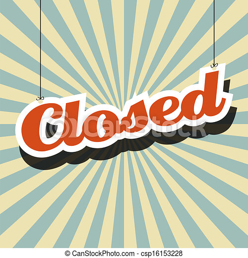 closed sign - csp16153228