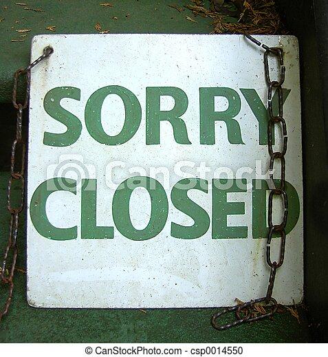 Closed Sign - csp0014550