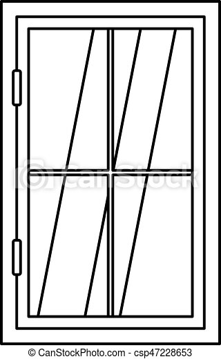 closed window clipart. closed window icon outline - csp47228653 clipart