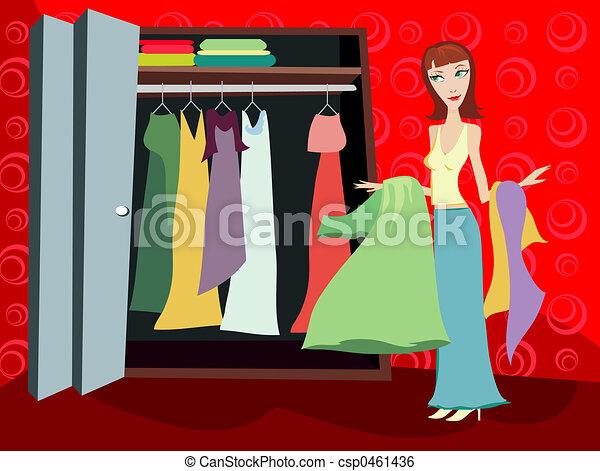 Closet of Clothes - Brunette - csp0461436