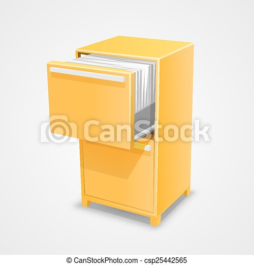 Closet safe with documents - csp25442565