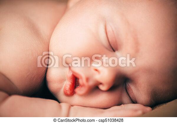 closeup baby face - csp51038428
