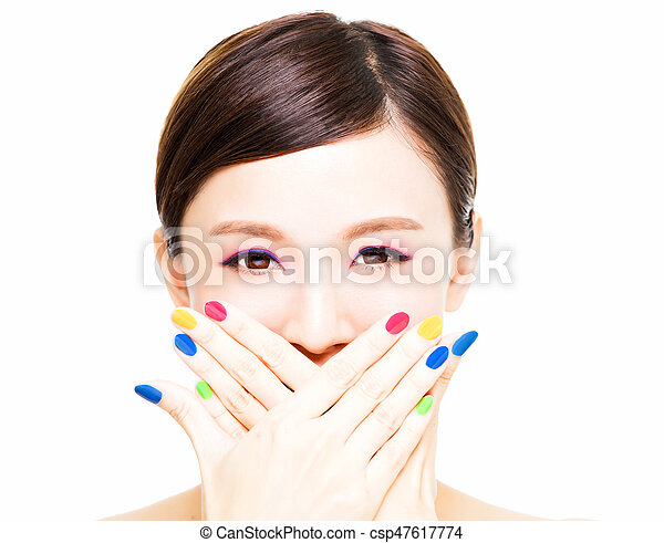 Marvelous Closeup Beauty Girl Face With Colorful Makeup Concept Wiring Digital Resources Nekoutcompassionincorg